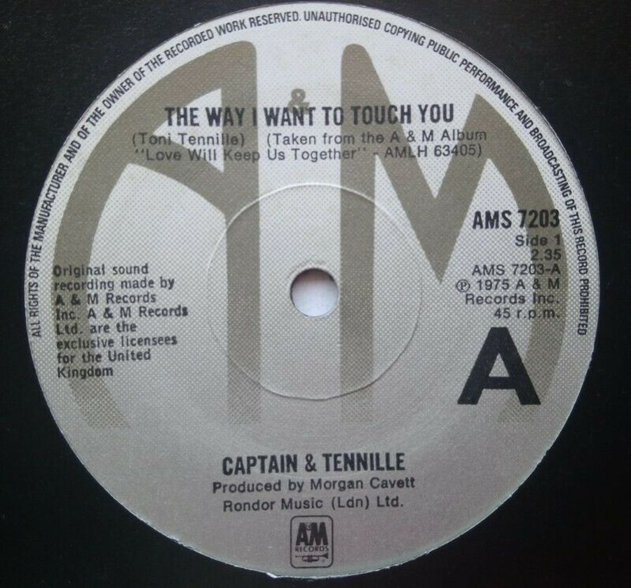 Captain & Tennille - The Way I Want To Touch You - 7