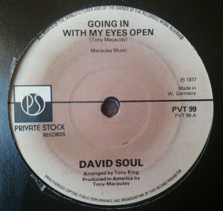 David Soul - Going In With My Eyes wide Open - 7