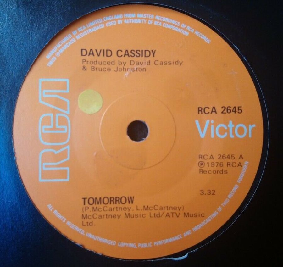 David Cassidy - Tomorrow - 7
