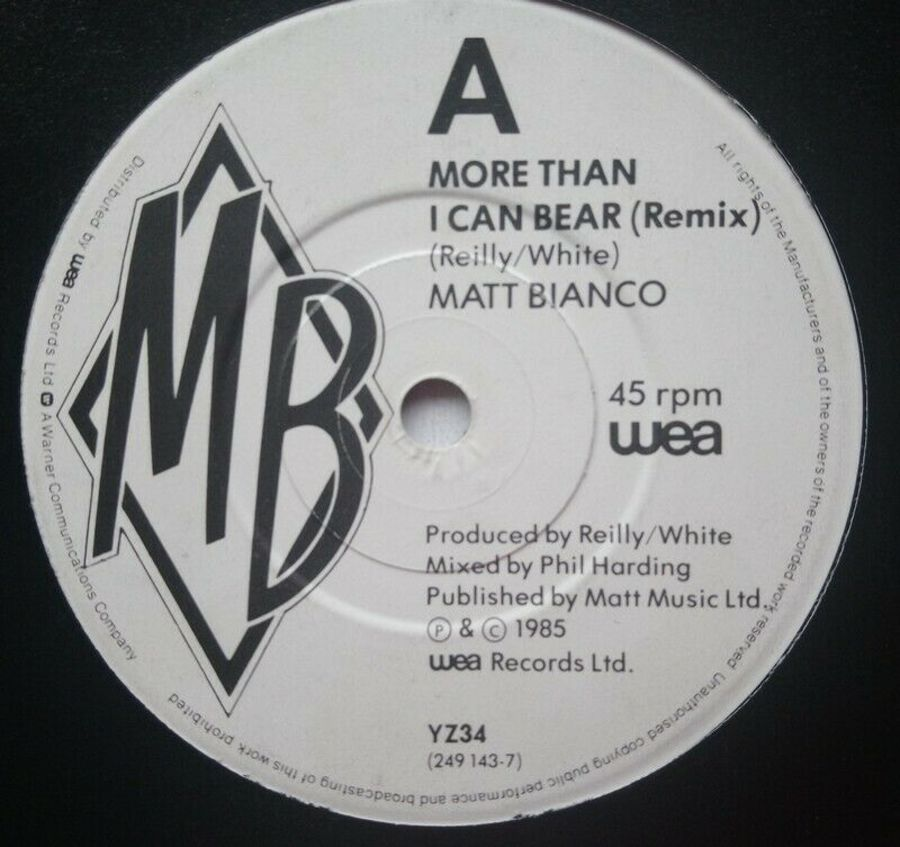 Matt Bianco - More Than I Can Bear ( Remix ) - 7