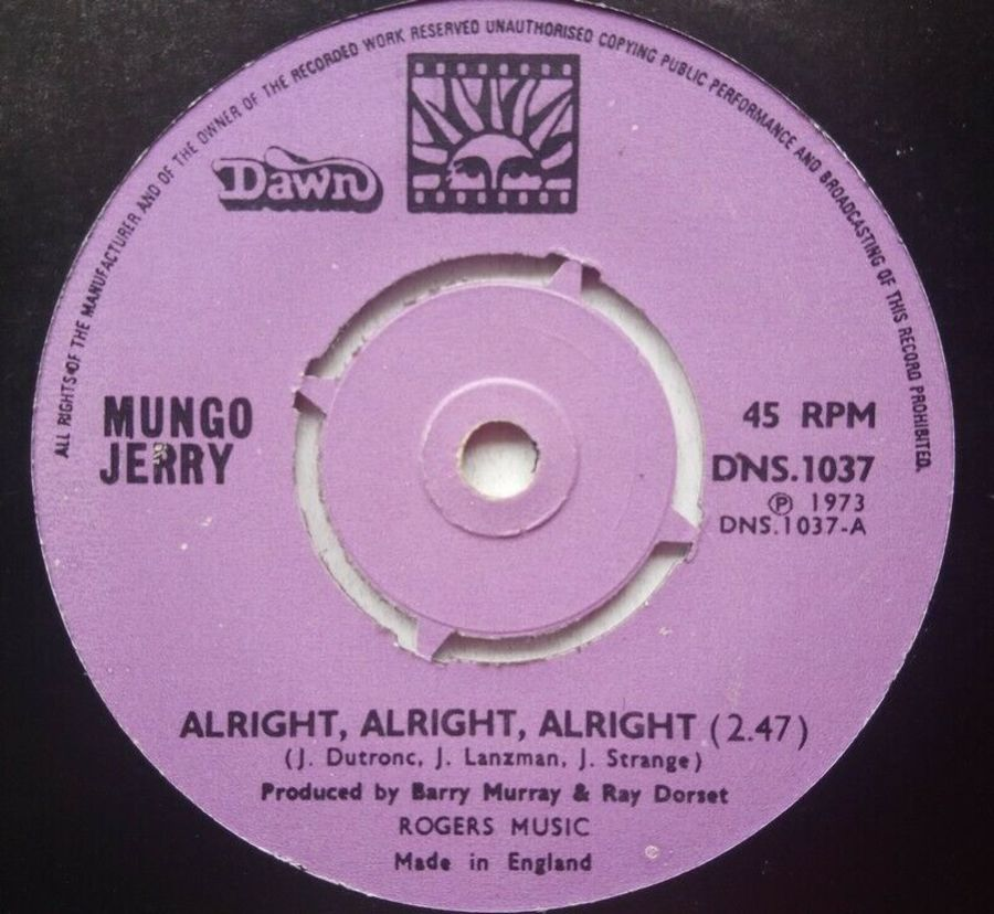 Mungo Jerry - Alright, Alright, Alright - 7