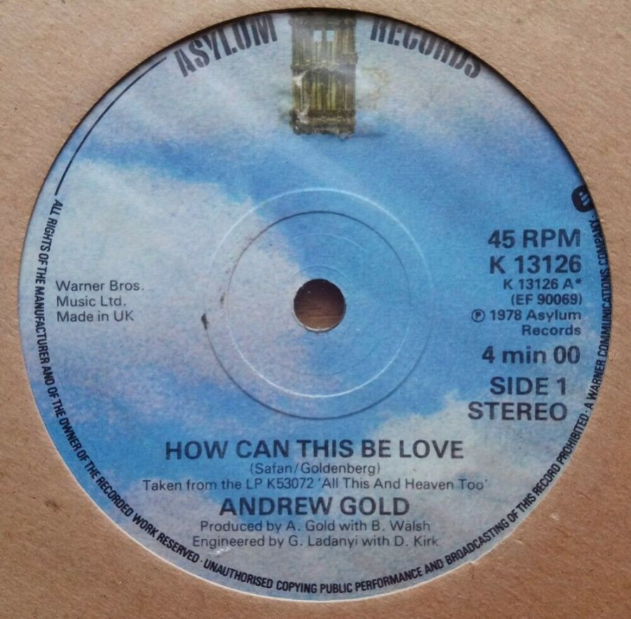 Andrew Gold - How Can This Be Love - Vinyl Record 45 RPM