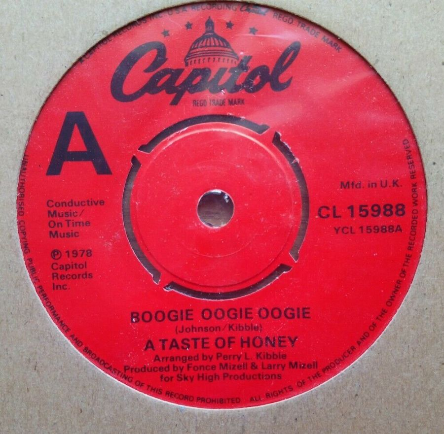 A Taste Of Honey - Boogie Oogie Oogie - Vinyl Record 45 RPM