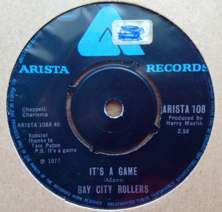 Bay City Rollers - It's A Game - Vinyl Record 45 RPM