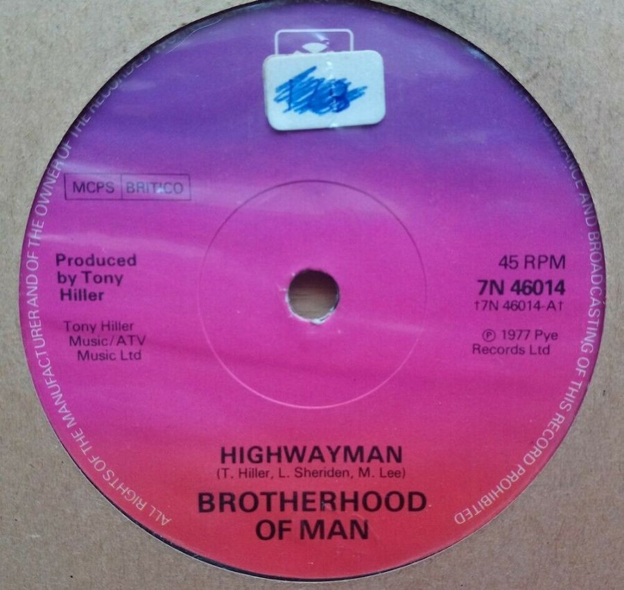 Brotherhood Of Man - Highwayman - Vinyl Record 45 RPM