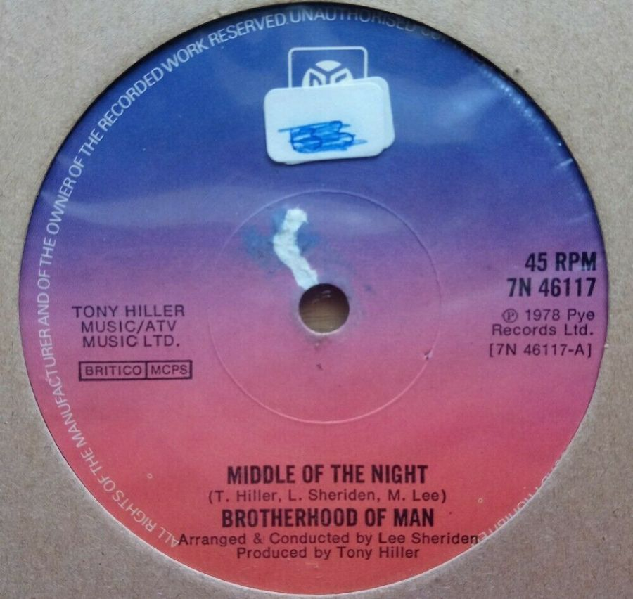 Brotherhood Of Man - Middle Of The Night - Vinyl Record 45 RPM