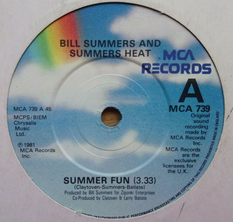 Bill Summers And Summers Heat - Summer Fun - Vinyl Record 45 RPM