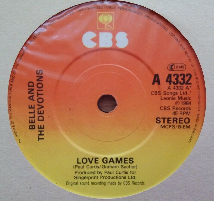 Belle And The Devotions - Love Games - Vinyl Record 45 RPM