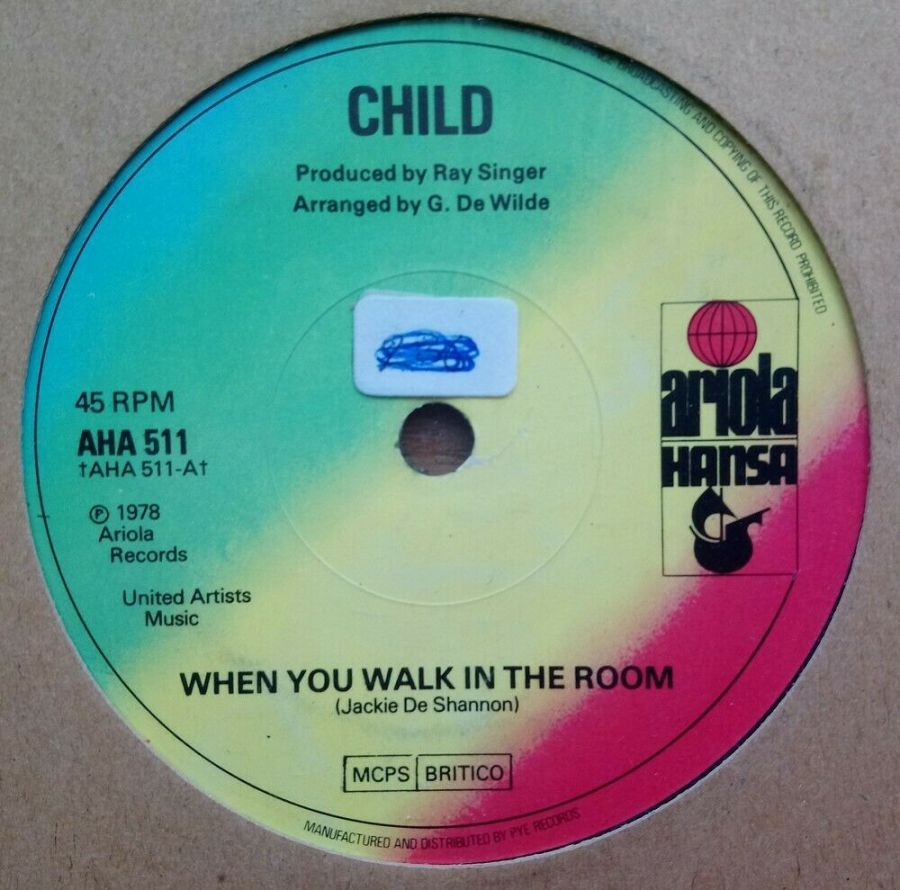 Child - When You Walk In The Room - Vinyl Record 45 RPM