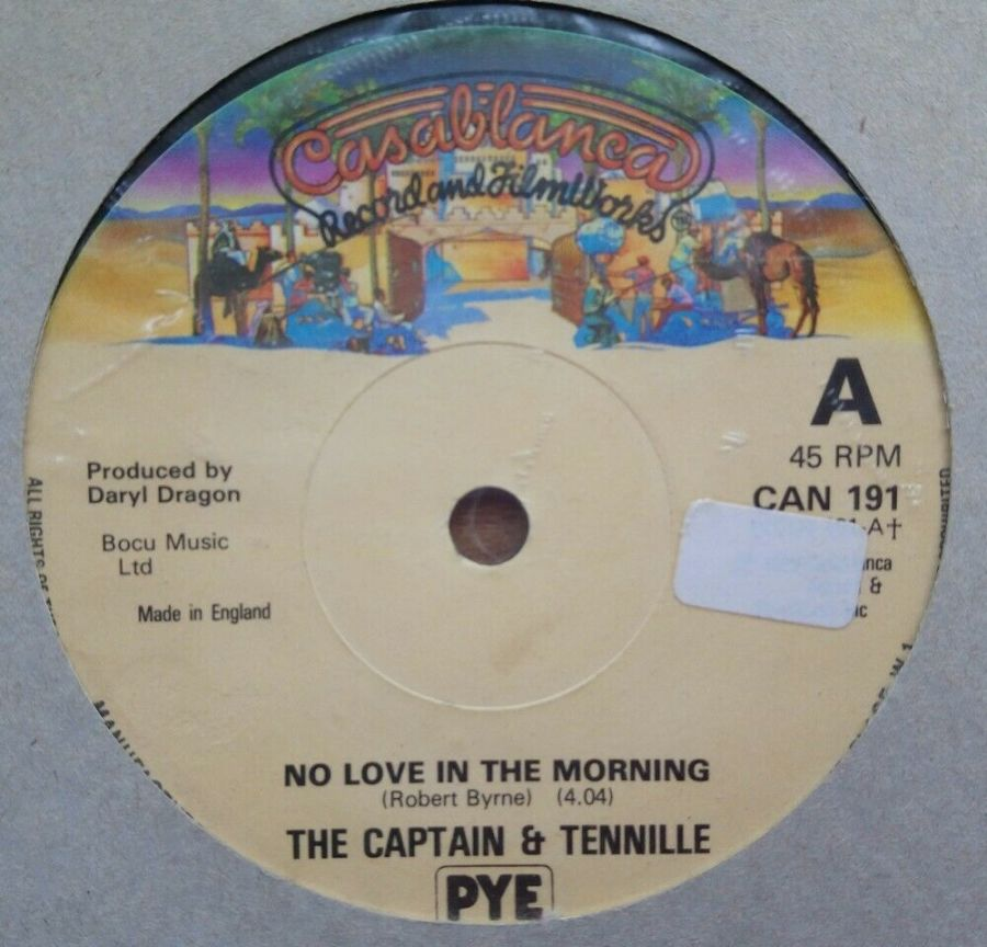 The Captain & Tennille - No Love In The Morning - Vinyl Record 45 RPM