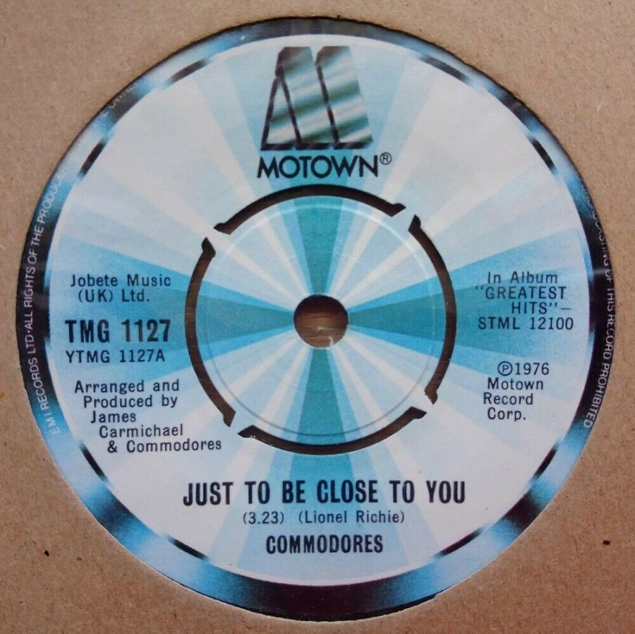 Commodores - Just To Be Close To You - Vinyl Record 45 RPM
