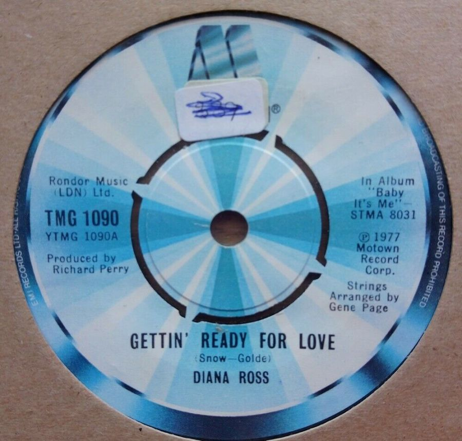 Diana Ross - Gettin' Ready For Love - Vinyl Record 45 RPM
