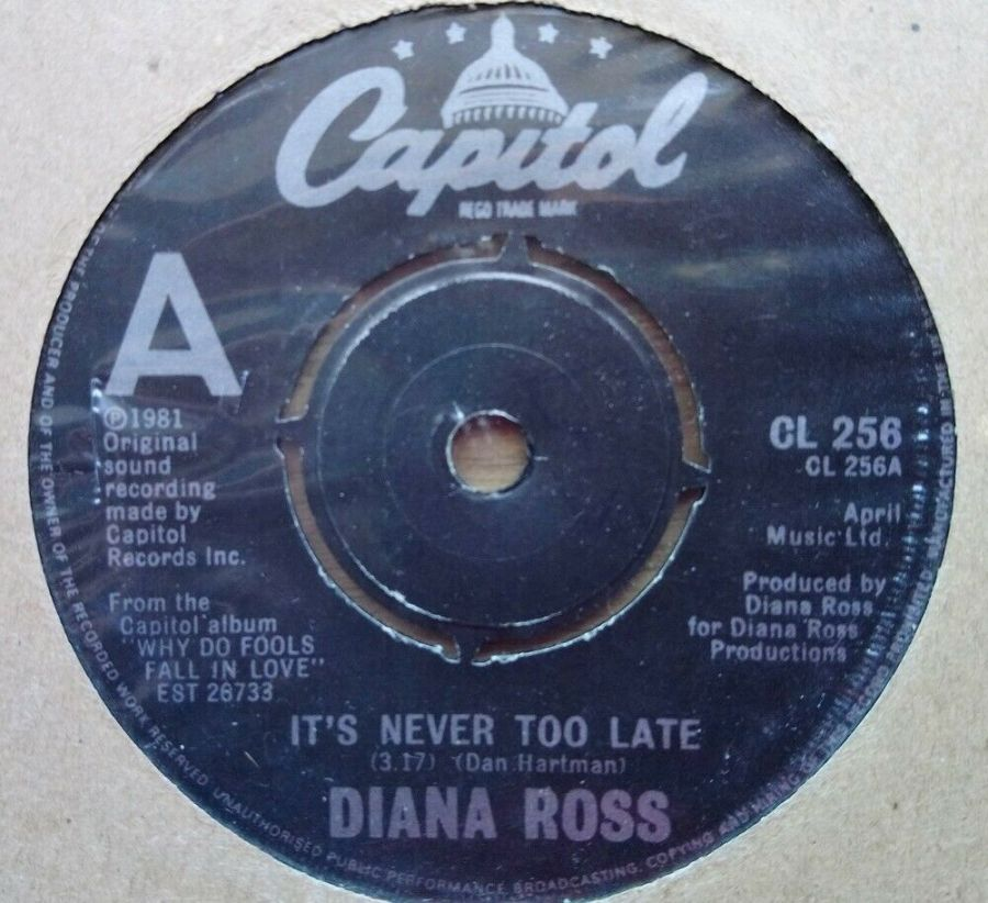 Diana Ross - It's Never To Late - Vinyl Record 45 RPM