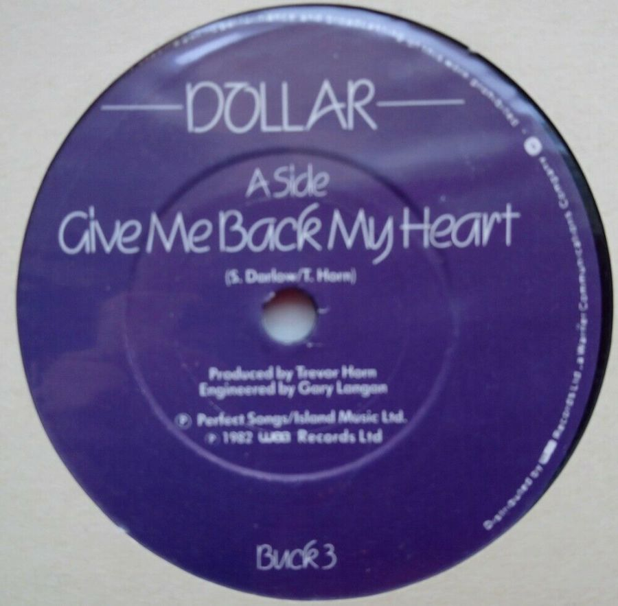 Dollar - Give Me Back My Heart - Vinyl Record 45 RPM