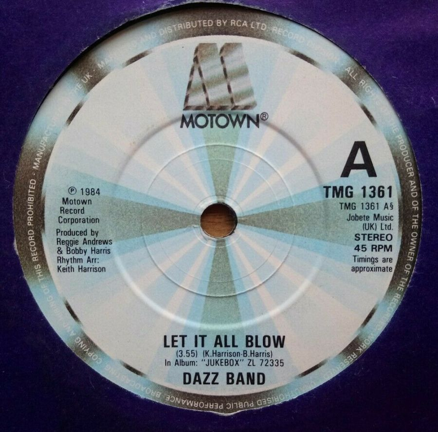 Dazz Band - Let It All Blow - Vinyl Record 45 RPM