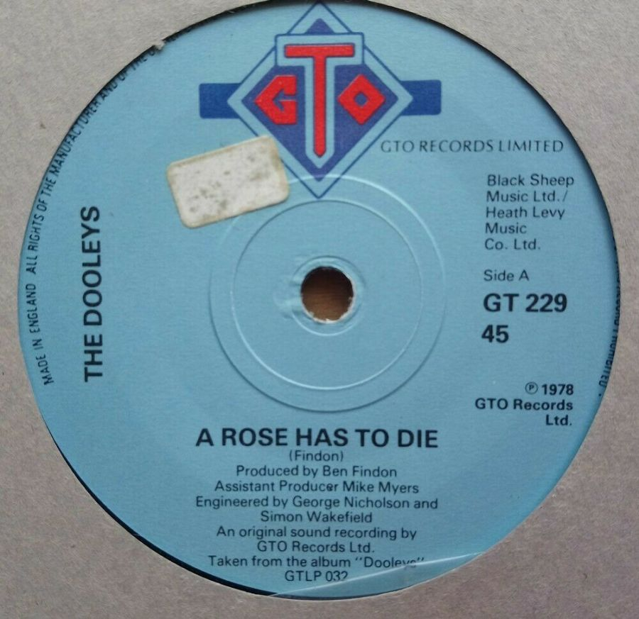 The Dooleys - A Rose Has To Die - Vinyl Record 45 RPM