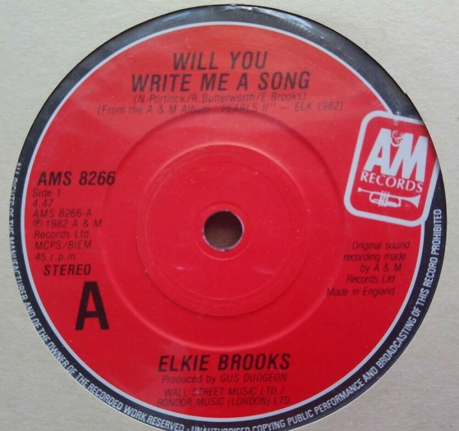 Elkie Brooks - When Will You Write Me A Song - Vinyl Record 45 RPM