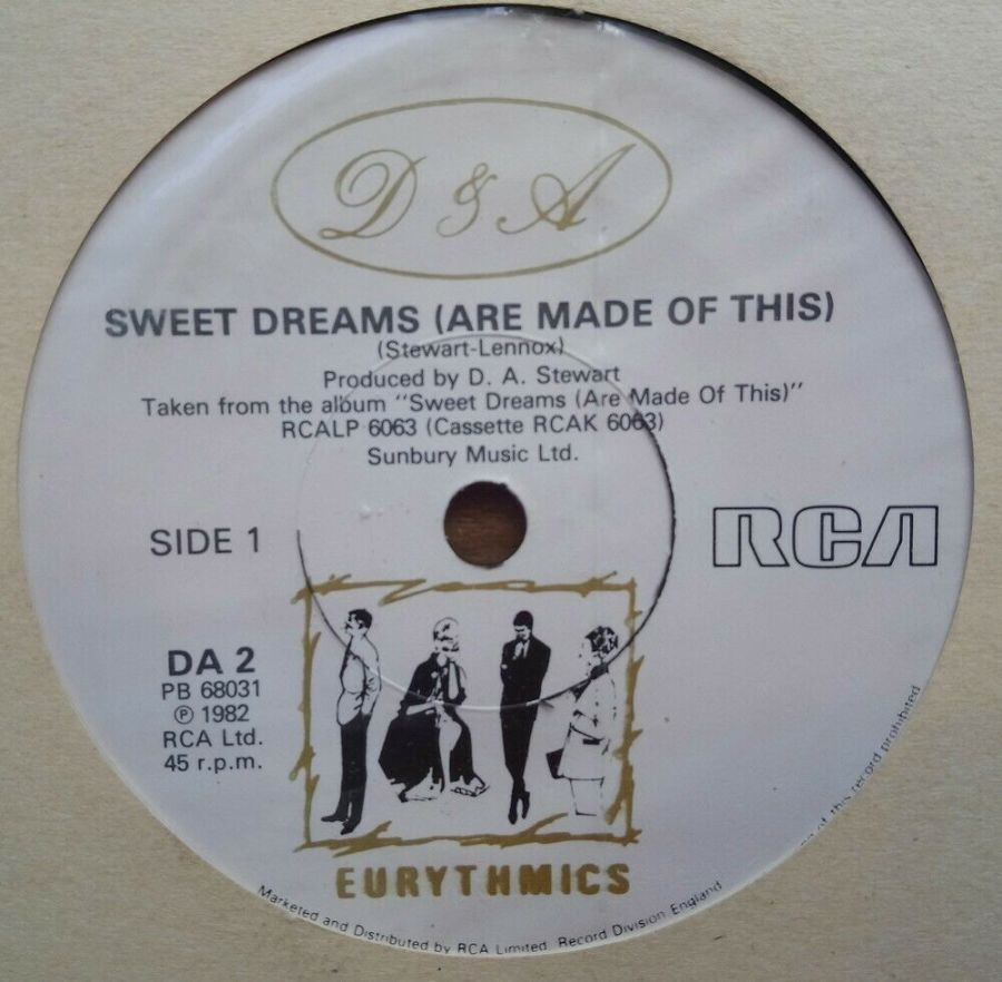 Eurythmics - Sweet Dreams Are Made Of This - Vinyl Record 45 RPM