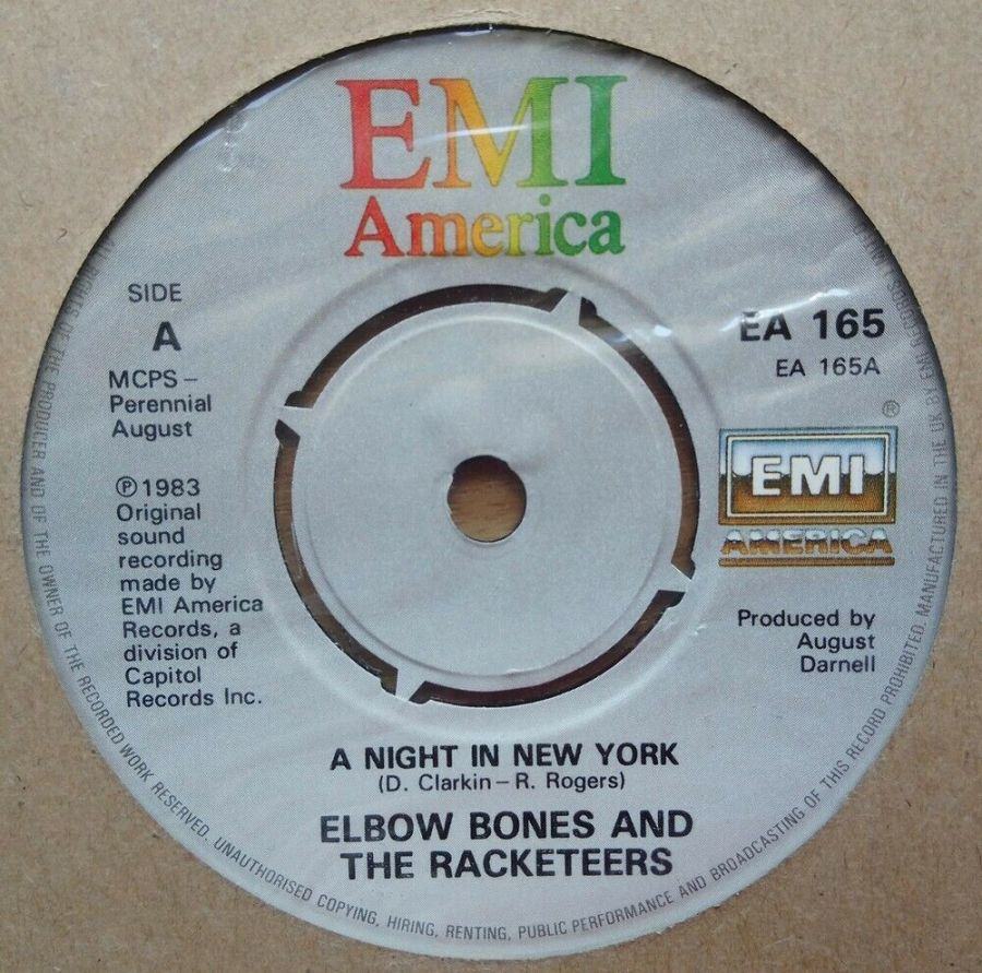 Elbow Bones And The Racketeers - A Night In New York - Vinyl Record 45 RPM