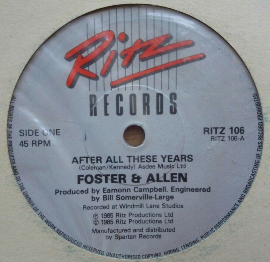Foster & Allen - After All These Years - Vinyl Record 45 RPM