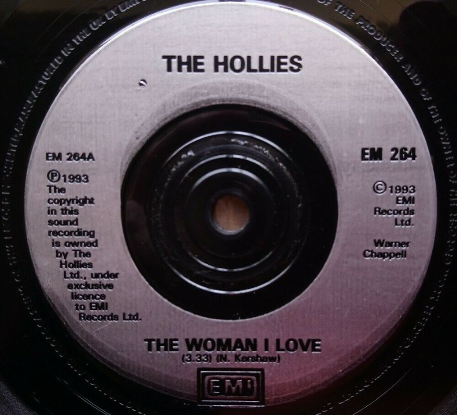 The Hollies - The Woman I Love - Vinyl Record 45 RPM