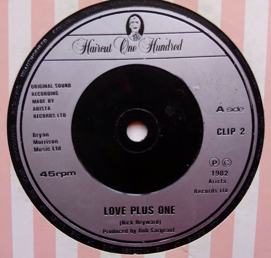 Haircut One Hundred - Love Plus One - Vinyl Record 45 RPM