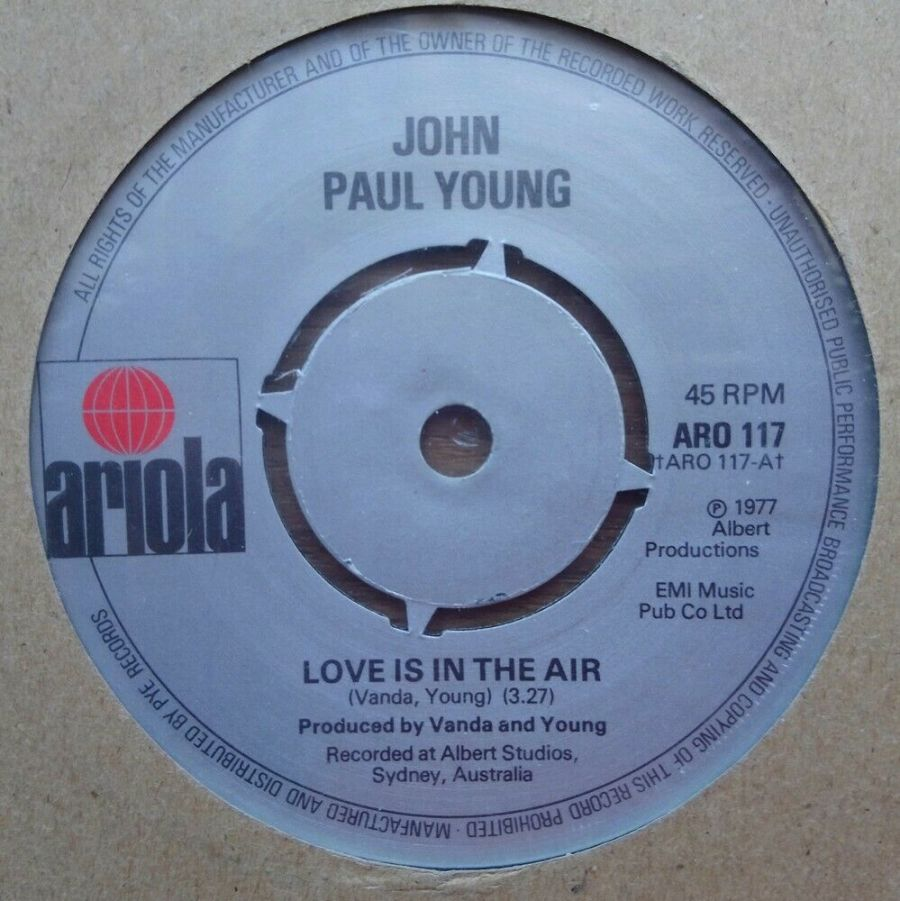 John Paul Young - Love Is In The Air - Vinyl Record 45 RPM