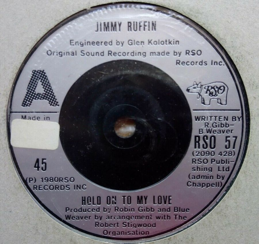 Jimmy Ruffin - Hold On To Love - Vinyl Record 45 RPM