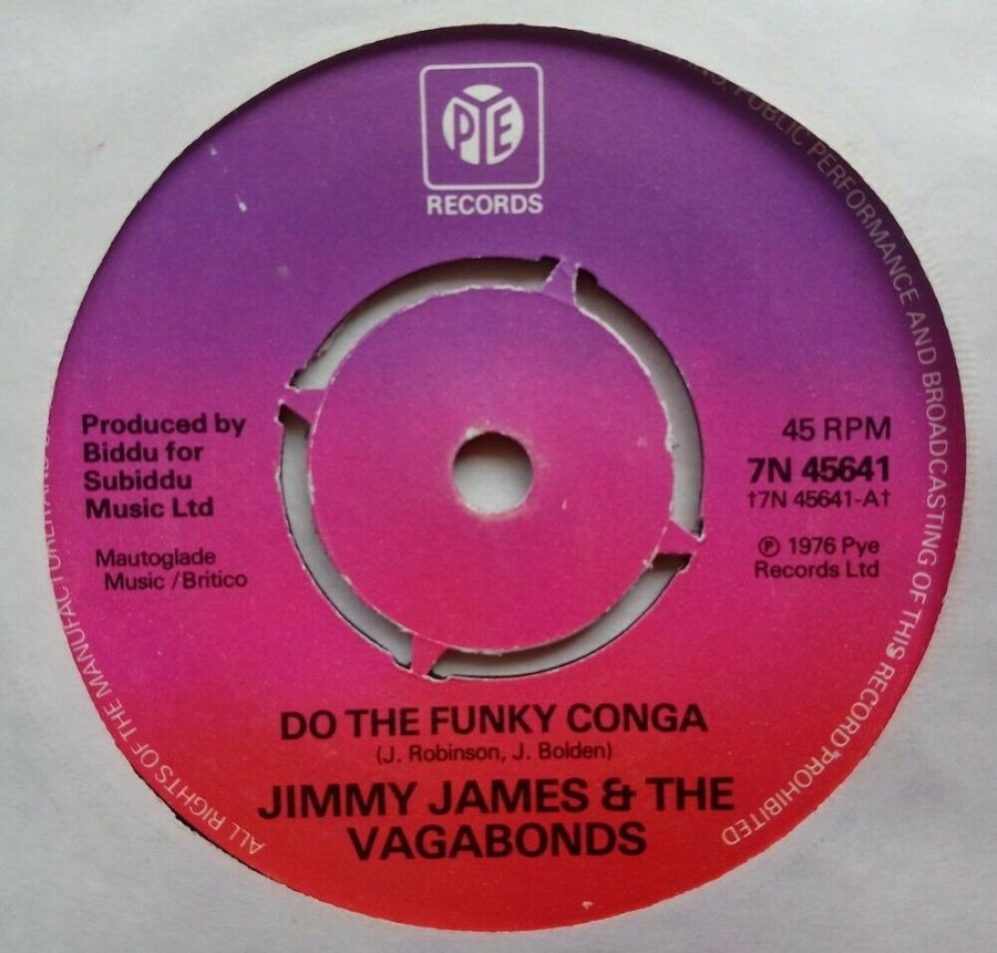 Jimmy James & The Vagabonds - Do The Funky Conga - Vinyl Record 45 RPM