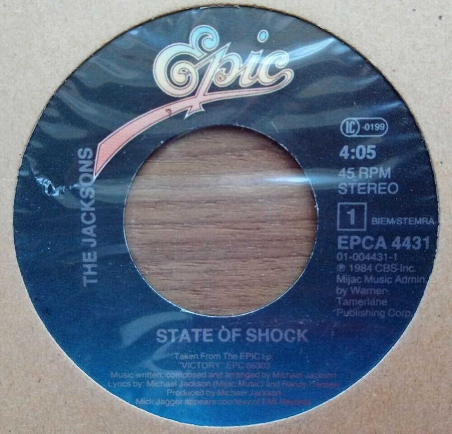 The Jacksons - State Of Shock - Vinyl Record 45 RPM