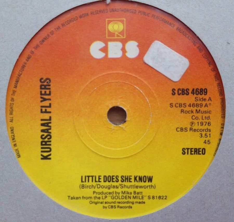 Kursaal Flyers - Little Does She Know - Vinyl Record 45 RPM