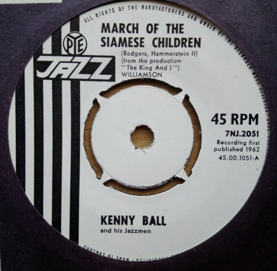 Kenny Ball - March Of The Siamese Children - Vinyl Record 45 RPM