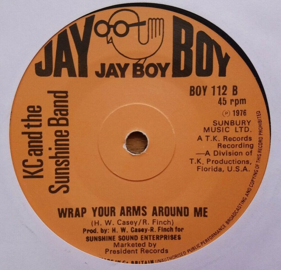 KC & The Sunshine Band - Wrap Your Arms Around Me - Vinyl Record 45 RPM