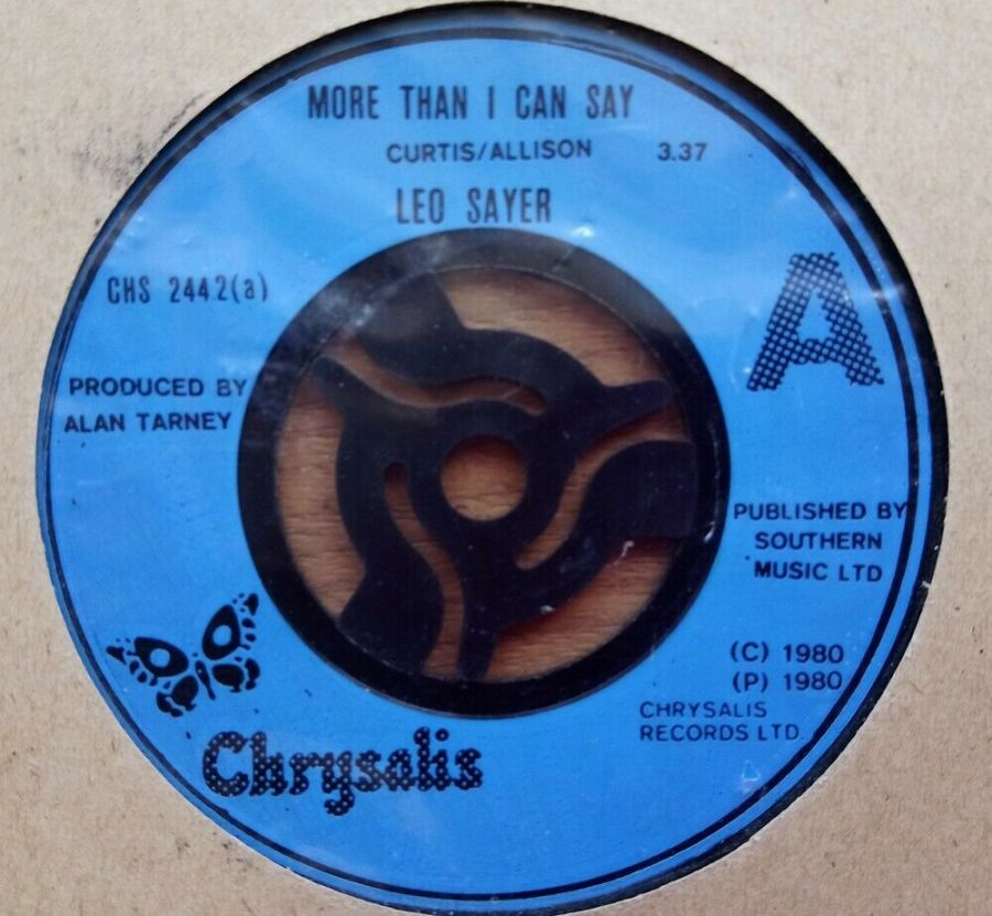 Leo Sayer - More than I Can Say - Vinyl Record 45 RPM