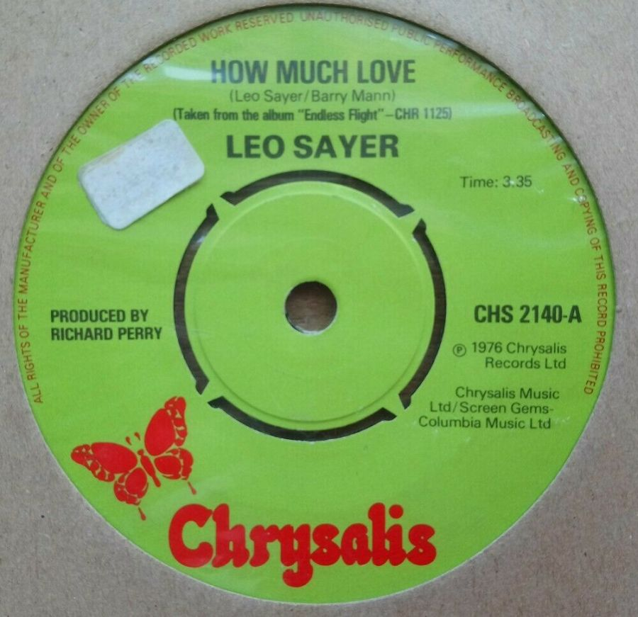 Leo Sayer - How Much Love - Vinyl Record 45 RPM