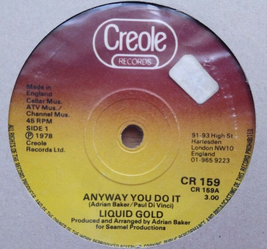 Liquid Gold - Anyway You Do It - Vinyl Record 45 RPM