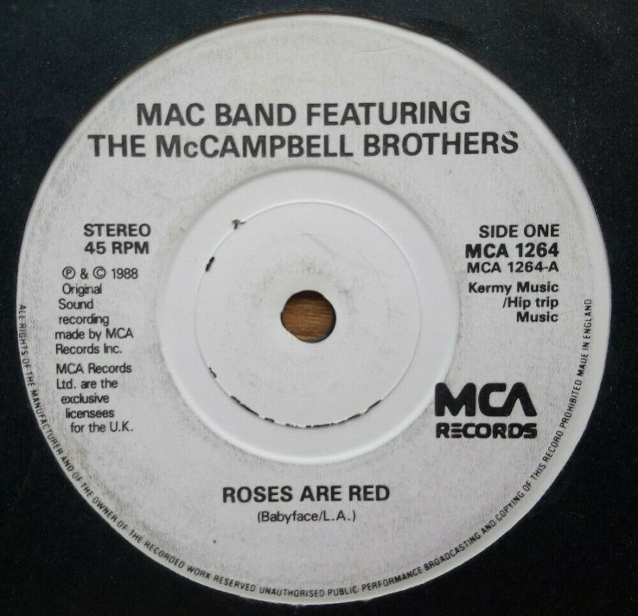 Mac Band - Roses Are Red - Vinyl Record 45 RPM