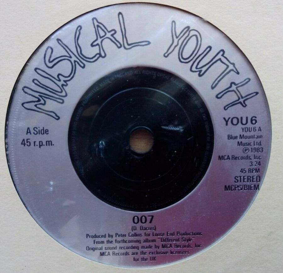 Musical Youth - 007 - Vinyl Record 45 RPM