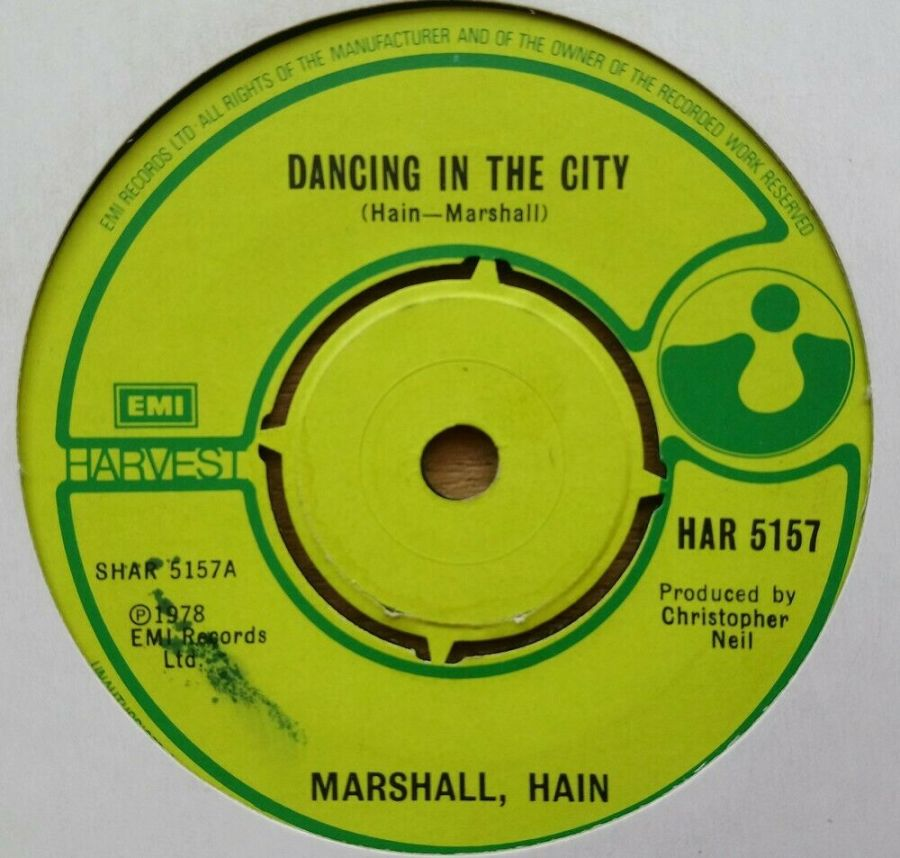 Marshall Hain - Dancing In The City - Vinyl Record 45 RPM
