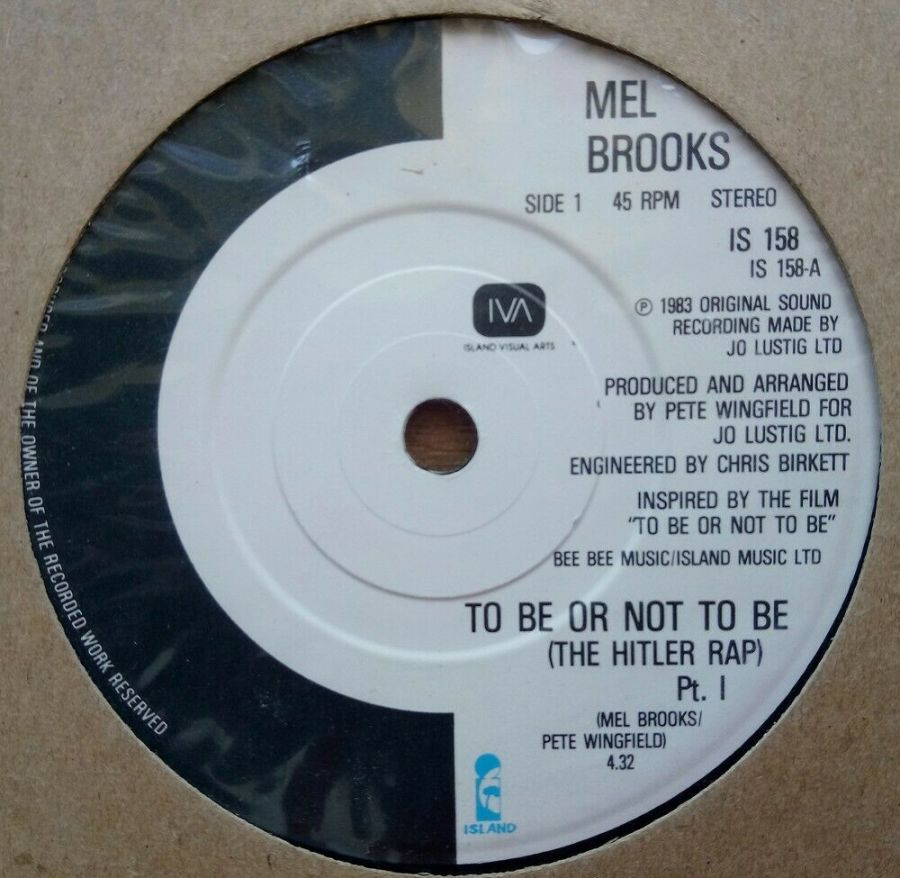 Mel Brooks - To Be Or Not To Be - Vinyl Record 45 RPM
