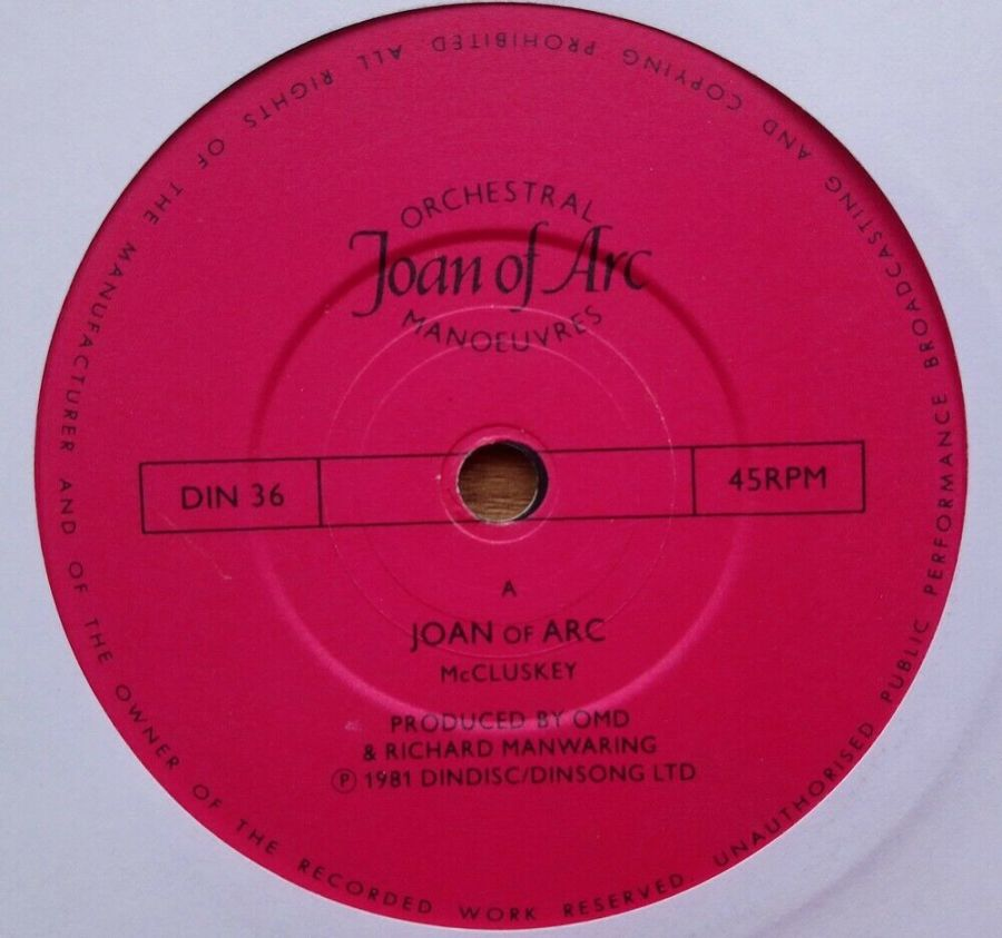 Orchestral Manoeuvres In The Dark - Joan Of Arc - Vinyl Record 45 RPM
