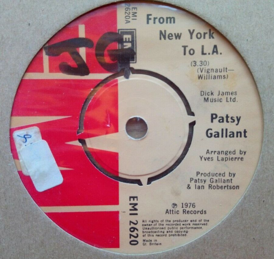 Patsy Gallant - From New York To L.A - Vinyl Record 45 RPM
