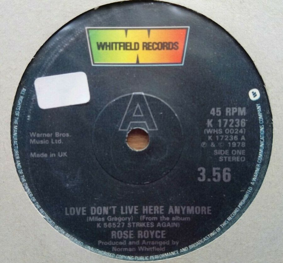 Rose Royce - Love don't Live Here Anymore - Vinyl Record 45 RPM