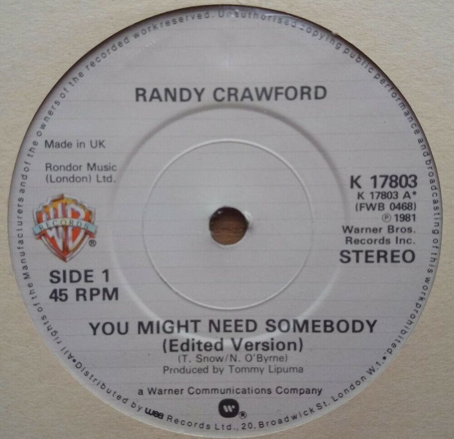 Randy Crawford - You Might Need Somebody - Vinyl Record 45 RPM