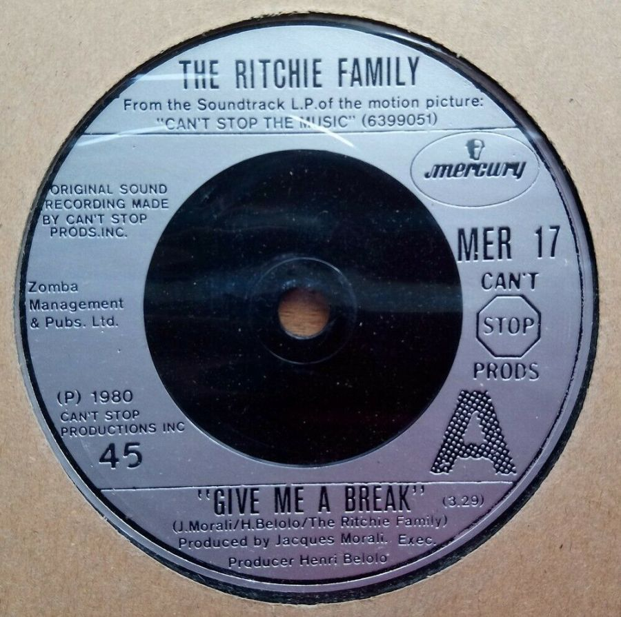 The Ritchie Family - Give Me A Break - Vinyl Record 45 RPM