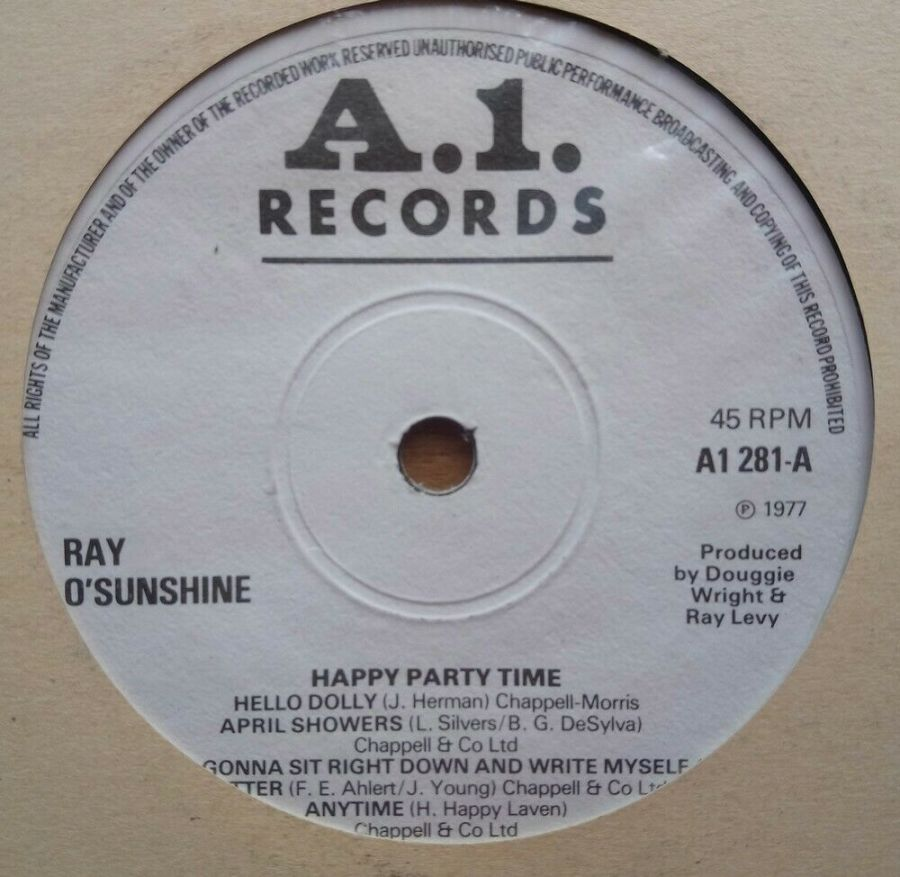 Ray O'Sunshine - Happy Party Time - Vinyl Record 45 RPM