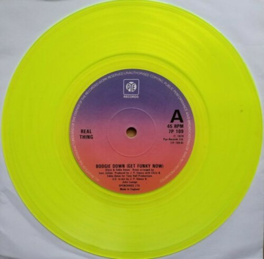 Real Thing - Boogie Down ( Get Funky Now ) Yellow Vinyl - Vinyl Record 45 RPM