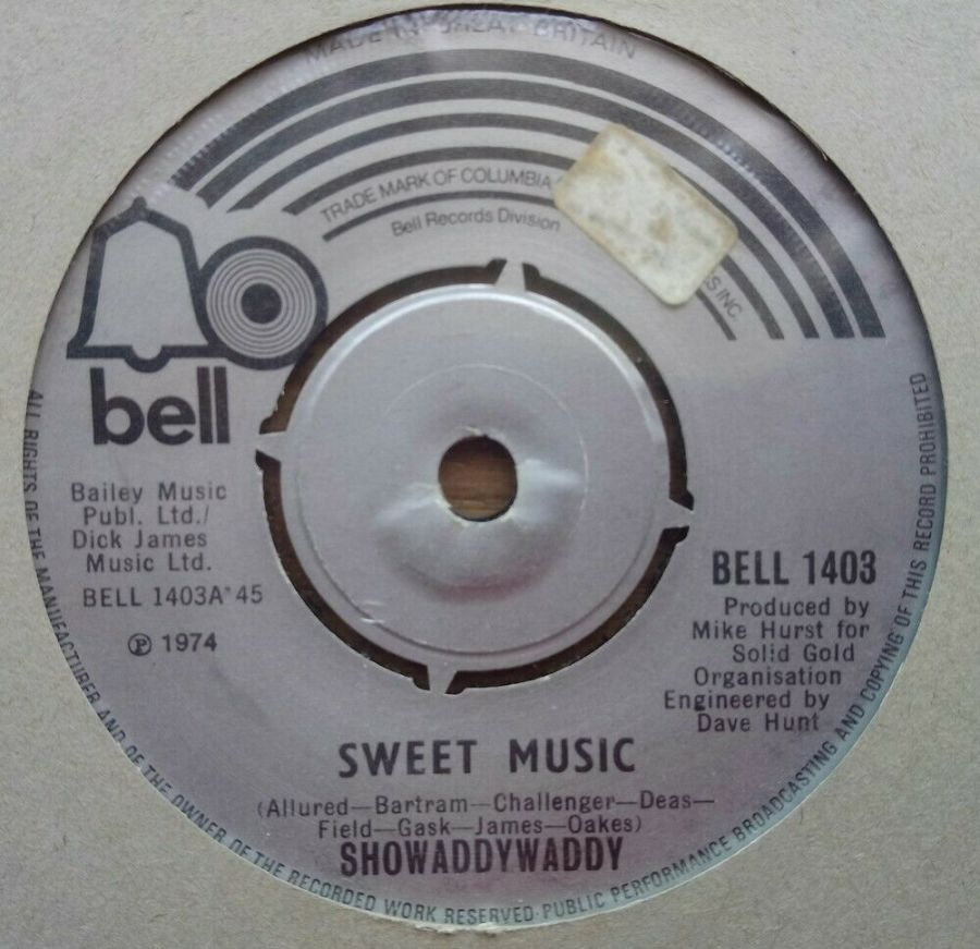 Showaddywaddy - Sweet Music - Vinyl Record 45 RPM