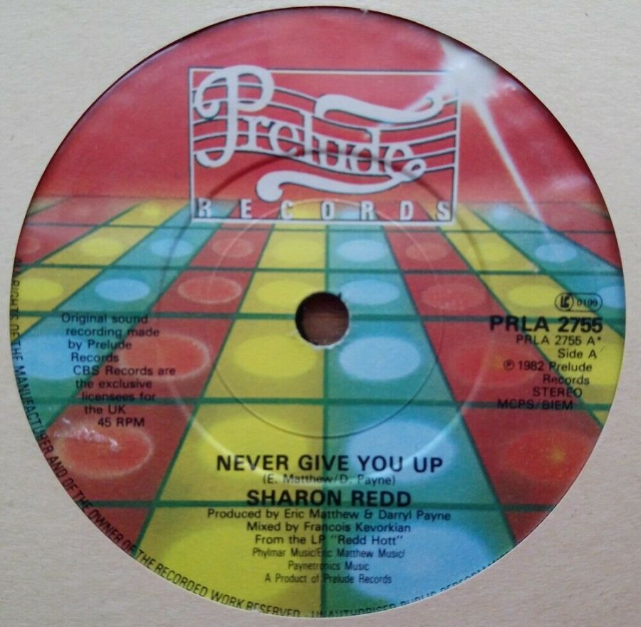 Sharon Redd - Never Give You Up - Vinyl Record 45 RPM