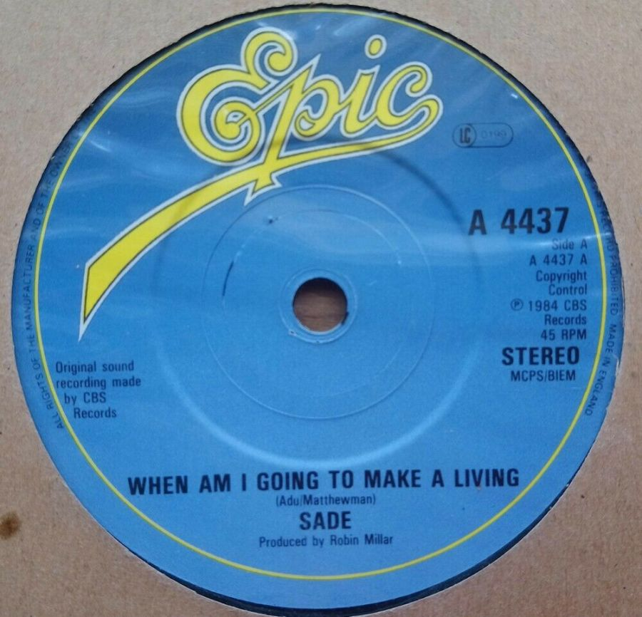 Sade - When Am I Going To Make A Living - Vinyl Record 45 RPM